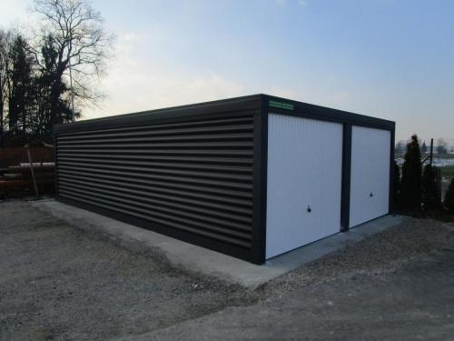 Montažna garaža dupla